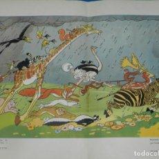 Carteles Publicitarios: (M) CARTEL LITOGRAFICO LIBRAIRIE HACHETTE DESSIN LORIOUX WALT DISNEY - L'ARCHE DE NOÉ. Lote 194755842