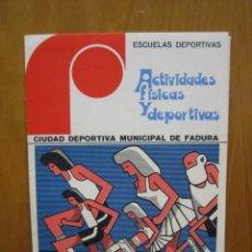 Carteles Publicitarios: ACTIVIDADES FÍSICAS Y DEPORTIVAS. Lote 194898505