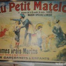 Carteles Publicitarios: CARTEL PUBLICITARIO AU PETIT MATELOT. Lote 195154535