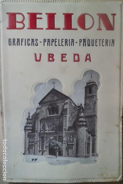 PRECIOSO CARTEL PUBLICITARIO PAPELERIA BELLON-UBEDA, JAEN (Coleccionismo - Carteles Gran Formato - Carteles Publicitarios)