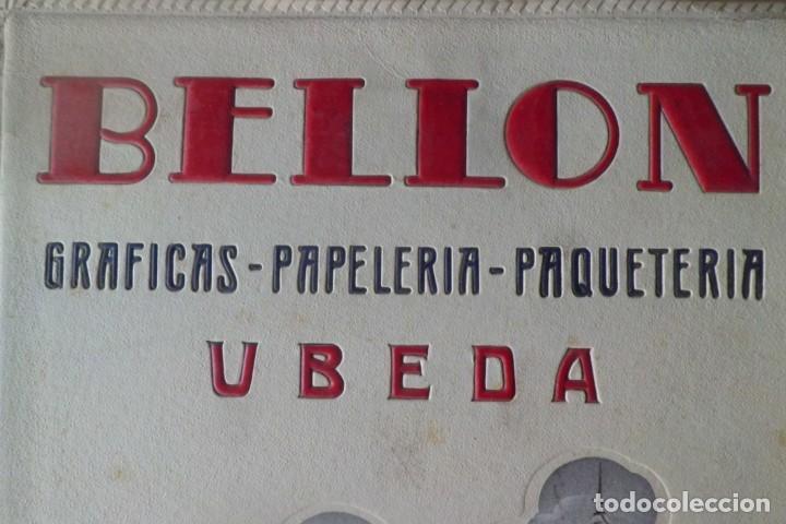 Carteles Publicitarios: PRECIOSO CARTEL PUBLICITARIO PAPELERIA BELLON-UBEDA, JAEN - Foto 2 - 195426220
