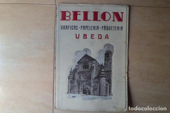Carteles Publicitarios: PRECIOSO CARTEL PUBLICITARIO PAPELERIA BELLON-UBEDA, JAEN - Foto 3 - 195426220