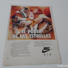 Carteles Publicitarios: HOJA PUBLICITARIA ZAPATILLAS BALONCESTO NIKE AIR. Lote 195434162