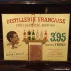 Affiches Publicitaires: ANTIGUO CARTEL DISTILLERIE FRANCAISE EMILE DELTOMBE BRUAY , SIGLO XIX. Lote 195494350