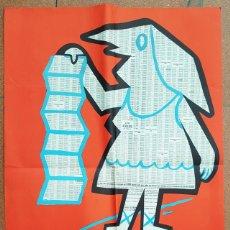 Carteles Publicitarios: CARTEL (NO POSTAL) LOTERIA NACIONAL 98 X 67,50 CM 1968, PABLO SAN JOSE GARCIA PREMIO CONCURSO 1962. Lote 196085782