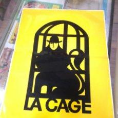Carteles Publicitarios: CARTEL ADHESIVO DE DISCOTECA LA CAGE (SALOU). MIDE 50CM X 35CM. Lote 196153822