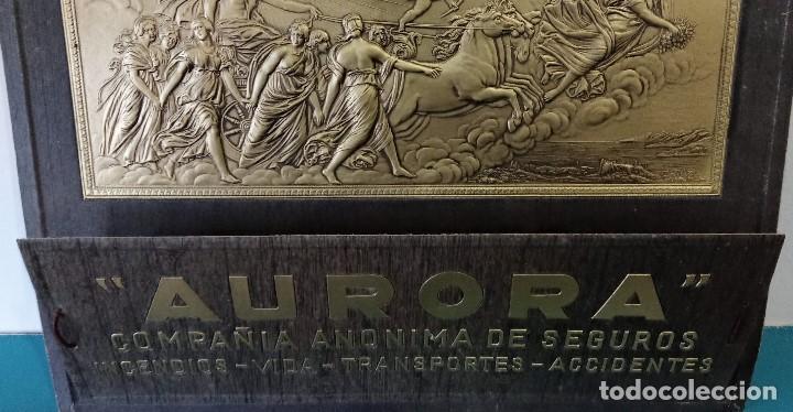 Carteles Publicitarios: CARTEL PAPELERO COMPAÑÍA ANÓNIMA DE SEGUROS AURORA. CARTÓN RELIEVE. W - Foto 2 - 196190958