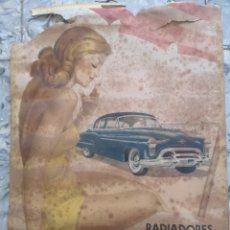 Carteles Publicitarios: CARTEL PUBLICITARIO,OLAYA RADIADORES AUTOMOVILES,AÑOS 50 MEDIDAS 47X34. Lote 196757628