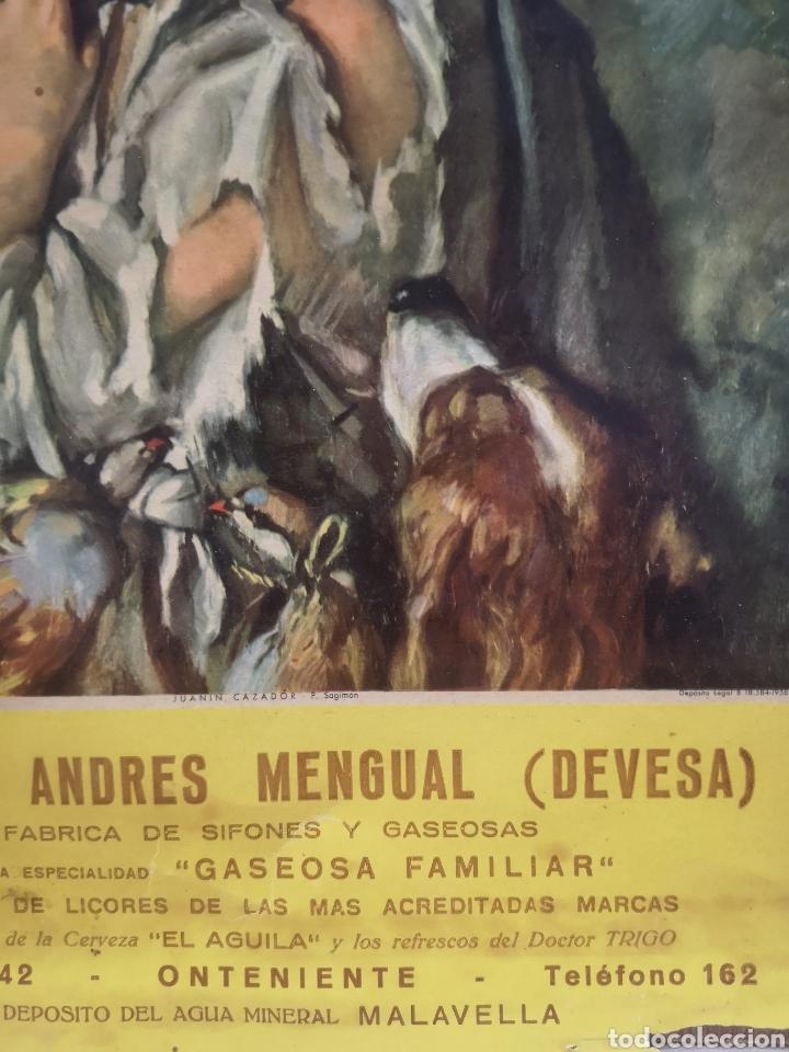 Carteles Publicitarios: CARTEL PUBLICIDAD VICENTE ANDRES MENGUAL ( DEVESA) SIFONES Y GASEOSAS, ONTENIENTE, 23X35CM - Foto 2 - 196798087