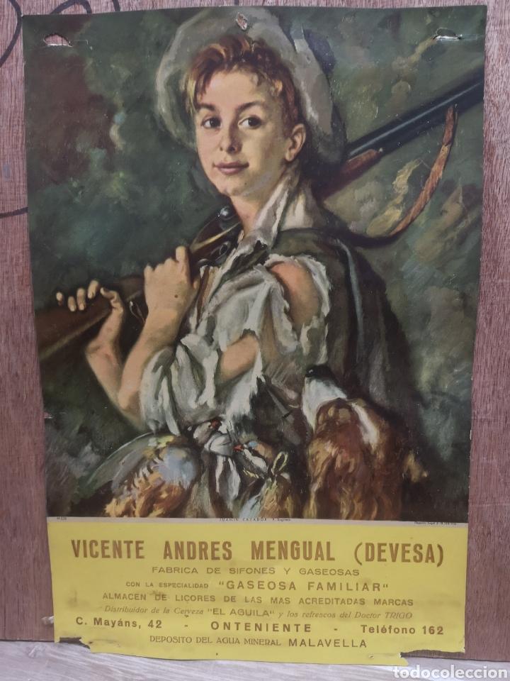 CARTEL PUBLICIDAD VICENTE ANDRES MENGUAL ( DEVESA) SIFONES Y GASEOSAS, ONTENIENTE, 23X35CM (Coleccionismo - Carteles Gran Formato - Carteles Publicitarios)