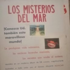 Carteles Publicitarios: CARTEL MISTERIOS DE MAR.. Lote 198457232