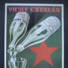 Carteles Publicitarios: CARTEL PUBLICITARIO. AGUA VICHY CATALAN. Lote 199287075
