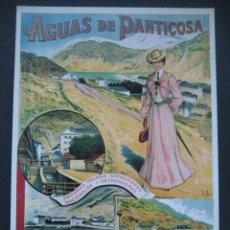 Carteles Publicitarios: CARTEL PUBLICITARIO. AGUAS DEL BALNEARIO DE PANTICOSA. Lote 199287478