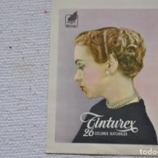 Carteles Publicitarios: CARTEL TINTE TINTUREX DE HENRY COLOMER IMP G VILADOT-BARCELONA. Lote 199487731