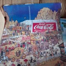 Cartazes Publicitários: CARTEL COCA COLA . REPRODUCCION DE IMAGENES DE LA MARCA EN LOS 50. GRAN FORMATO 100X60 CM. Lote 199912202