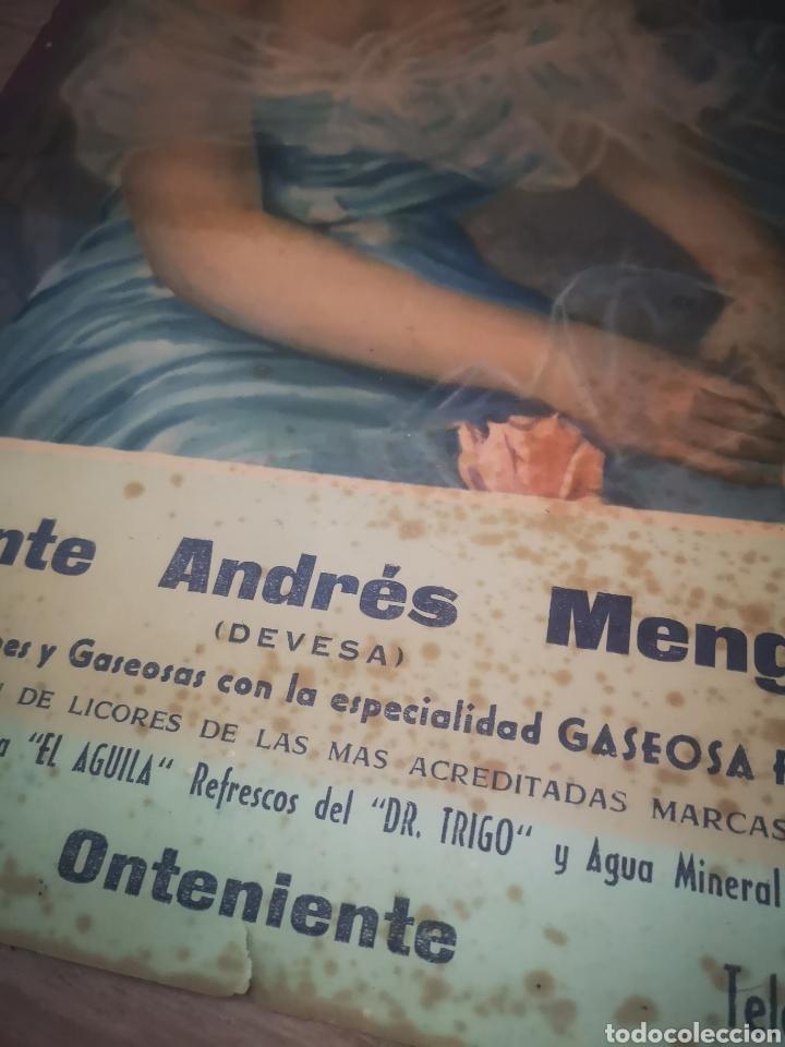 Carteles Publicitarios: CARTEL PUBLICIDAD VICENTE ANDRES MENGUAL ( DEVESA) SIFONES Y GASEOSAS, ONTENIENTE 48X34 - Foto 2 - 200367045