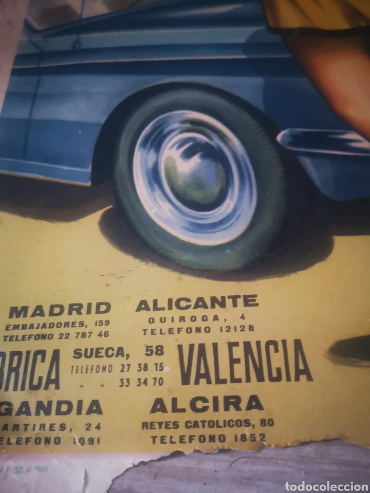 Carteles Publicitarios: OLAYA, RADIADORES AUTOMOVILES, VALENCIA, GANDIA ALZIRA, AÑOS 50 MIDE 49X38CM - Foto 2 - 200367175