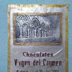Carteles Publicitarios: RECUERDO ANTIGUO ( CHOCOLATES VIRGEN DEL CARMEN ) ORIGINAL. Lote 200821937