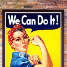 Carteles Publicitarios: POSTER VINTAGE - WE CAN DO - IT ROSIE THE RIVETER POSTER POR J. HOWARD MILLER - TAMAÑO 52,5 X 40 CMS. Lote 202037553