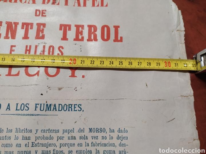 Carteles Publicitarios: Papel de fumar , Vicente Terol e Hijos Alcoy. - Foto 2 - 202365720