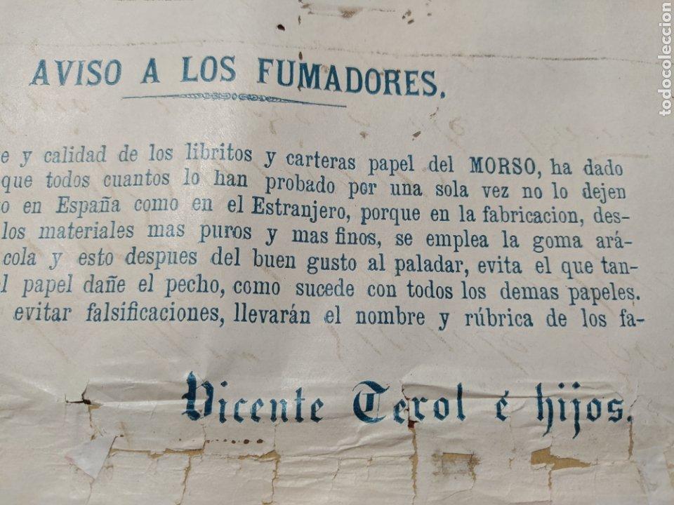 Carteles Publicitarios: Papel de fumar , Vicente Terol e Hijos Alcoy. - Foto 3 - 202365720