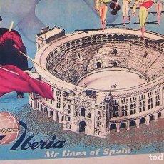 Carteles Publicitarios: CARTEL POSTER RETRO - MADRID - IBERIA LINEAS AEREAS DE ESPAÑA - MUY BUEN ESTADO.. Lote 228449585