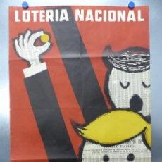 Carteles Publicitarios: BONITO CARTEL - LOTERIA NACIONAL - AÑO 1962. Lote 202505530