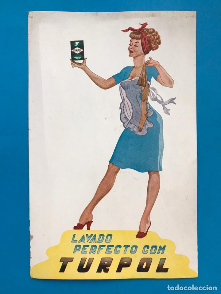 PUBLICIDAD TURPOL - LAVADO PERFECTO - AÑOS 1950-60 (Coleccionismo - Carteles Gran Formato - Carteles Publicitarios)