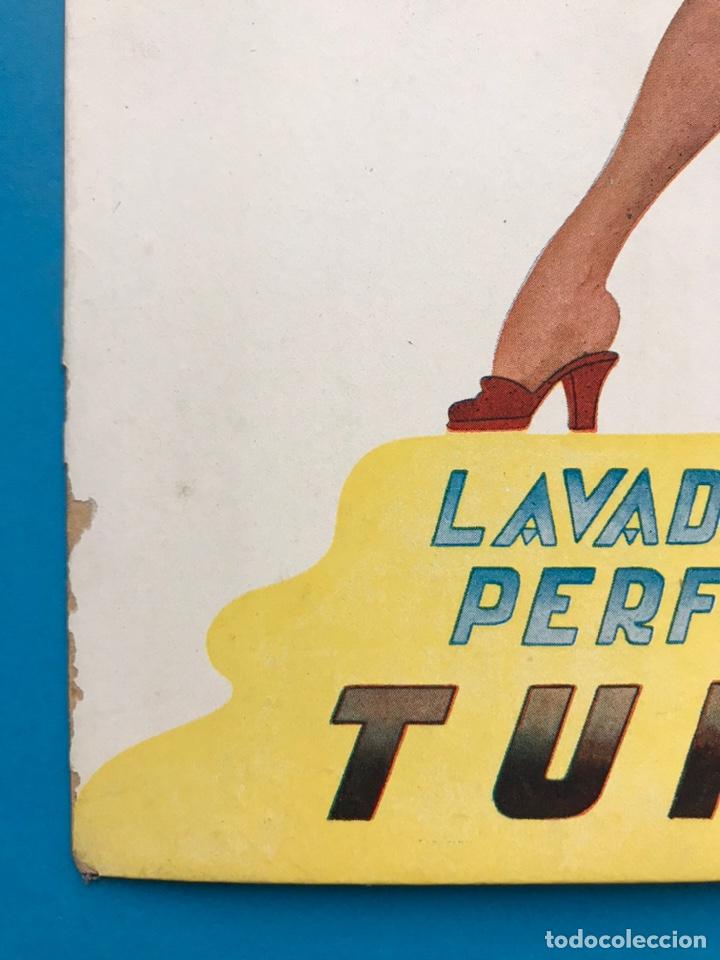 Carteles Publicitarios: PUBLICIDAD TURPOL - LAVADO PERFECTO - AÑOS 1950-60 - Foto 2 - 202537121