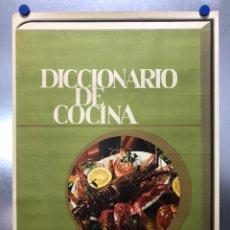 Carteles Publicitarios: CARTEL DICCIONARIO DE COCINA - IRIS ENCICLOPEDIA CARTEL LITOGRAFICO, AÑO 1965. Lote 203132450