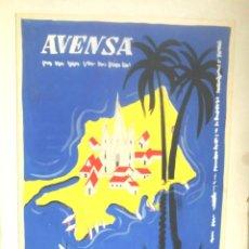 Carteles Publicitarios: AVENSA AEROVÍAS VENEZOLANAS SA, TINTA SOBRE CARTÓN CARTEL ORIGINAL CONCURSO AÑOS 70. MED. 22 X 31 CM. Lote 203310735