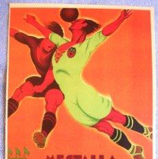 Affiches Publicitaires: CARTEL POSTER RETRO - FUTBOL EN MESTALLA - VALENCIA = REAL MADRID, EN 1931.. Lote 218841293