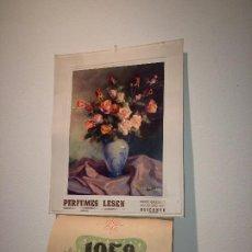 Carteles Publicitarios: PERFUMES LESEN - ALICANTE - AÑO 1958 - CALENDARIO IMPECABLE. Lote 204424208