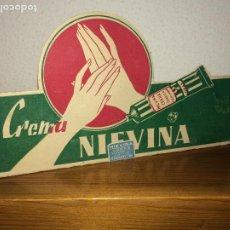 Carteles Publicitarios: CREMAS NIEVINA - PEQUEÑO DISPLAY DE CARTULINA - AÑOS 30/40 - MEDIDAS; 19 X 10 CMS.. Lote 204425028