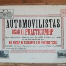 Carteles Publicitarios: CARTEL ORIGINAL AUTOMOVILISTAS USAD PRACTICUMHP PRINCIPIOS XX. Lote 204829827