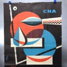 Carteles Publicitarios: VALENCIA - C.N.A. - 3º SALON NACIONAL DE LA ACUARELA - AÑO 1960 - LITOGRAFIA, DAMIAN CONTRERAS. Lote 204972722