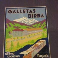 Carteles Publicitarios: CARTEL GALLETAS BIRBA CAMPRODON. Lote 205580221