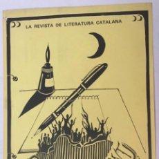 Carteles Publicitarios: CARTELL. QUART CREIXENT. LA REVISTA DE LITERATURA CATALANA. J. PALLARÉS. 41,5 X 29,7 CM.. Lote 205779133