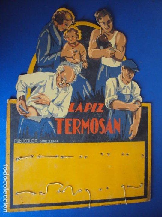 (PUB-180123)CARTEL - DISPLAY - EXPOSITOR - LAPIZ TERMOSAN (Coleccionismo - Carteles Gran Formato - Carteles Publicitarios)