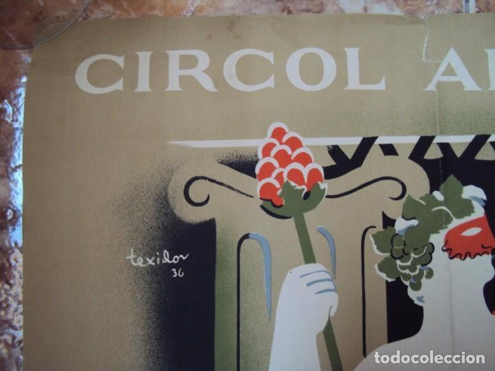 Carteles Publicitarios: (CAR-200523)Ferran Teixidor. Circol Artístic. Ball de Disfresses. Festa de Bacus. 24 febrer, 1936. - Foto 2 - 207183036