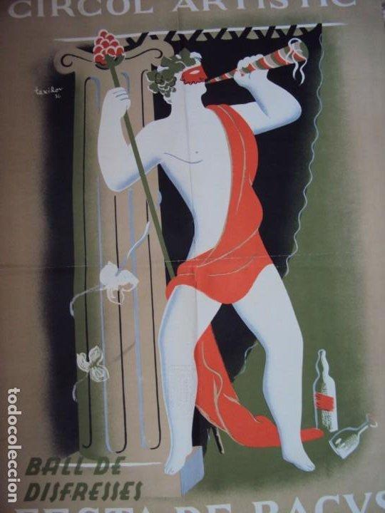 Carteles Publicitarios: (CAR-200523)Ferran Teixidor. Circol Artístic. Ball de Disfresses. Festa de Bacus. 24 febrer, 1936. - Foto 5 - 207183036