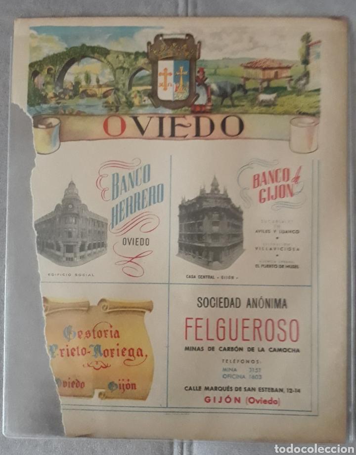 ANTIGUO CARTEL DE OVIEDO BANCO HERRERO,BANCO GIJON,FELGUEROSO,GESTORIA PRIETO (Coleccionismo - Carteles Gran Formato - Carteles Publicitarios)