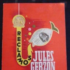 Carteles Publicitarios: RECLAMOS JULES GERZON S.A. - MADRID - BARCELONA. Lote 212039873