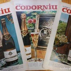 Carteles Publicitarios: CAVA CODORNIU. 8 ANUNCIOS.. Lote 9610220