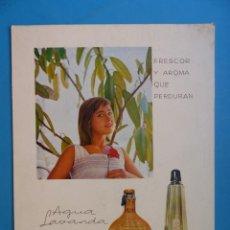 Affiches Publicitaires: DISPLAY PUBLICIDAD - COLONIA PERFUME AGUA LAVANDA, A. PUIG & CIA. - AÑOS 1960. Lote 212970007