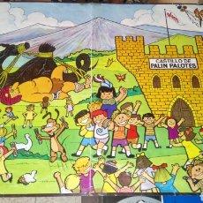Carteles Publicitarios: CARTEL DE PALIN PALOTES. CASTILLO DE PALIN PALOTES. PRODUCTOS DAMEL 1973.. Lote 213454770