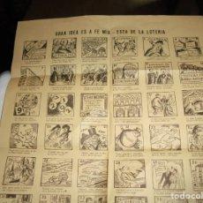 Carteles Publicitarios: GRAN IDEA ES A FE MIA-ESTA DE LA LOTERIA.CARTEL PUBLICITARIO DELSERVICIO NACIONAL DE LOTERIA 1966. Lote 214032155