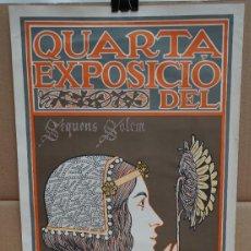 Carteles Publicitarios: CARTEL DE LA QUARTA EXPOSICIÓN DEL CIRCOL DE SANT LLUCH -- A. RIQUER, LIT UTRILLO & RIALP.. Lote 215121927