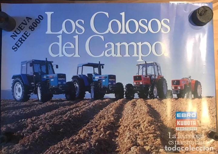CARTEL EBRO KUBOTA SERIE 8000 LOS COLOSOS DEL CAMPO (Coleccionismo - Carteles Gran Formato - Carteles Publicitarios)
