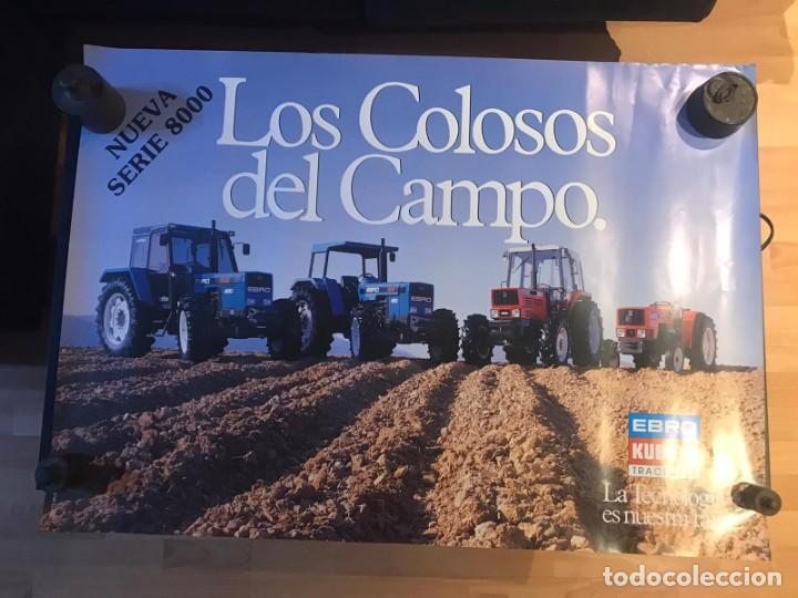 Carteles Publicitarios: CARTEL EBRO KUBOTA SERIE 8000 LOS COLOSOS DEL CAMPO - Foto 2 - 217050388